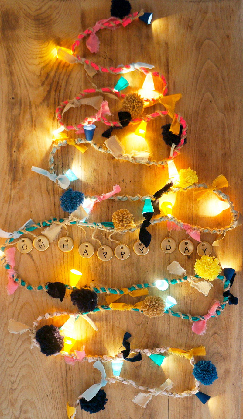 Diy guirnalda de luces: 2 versiones