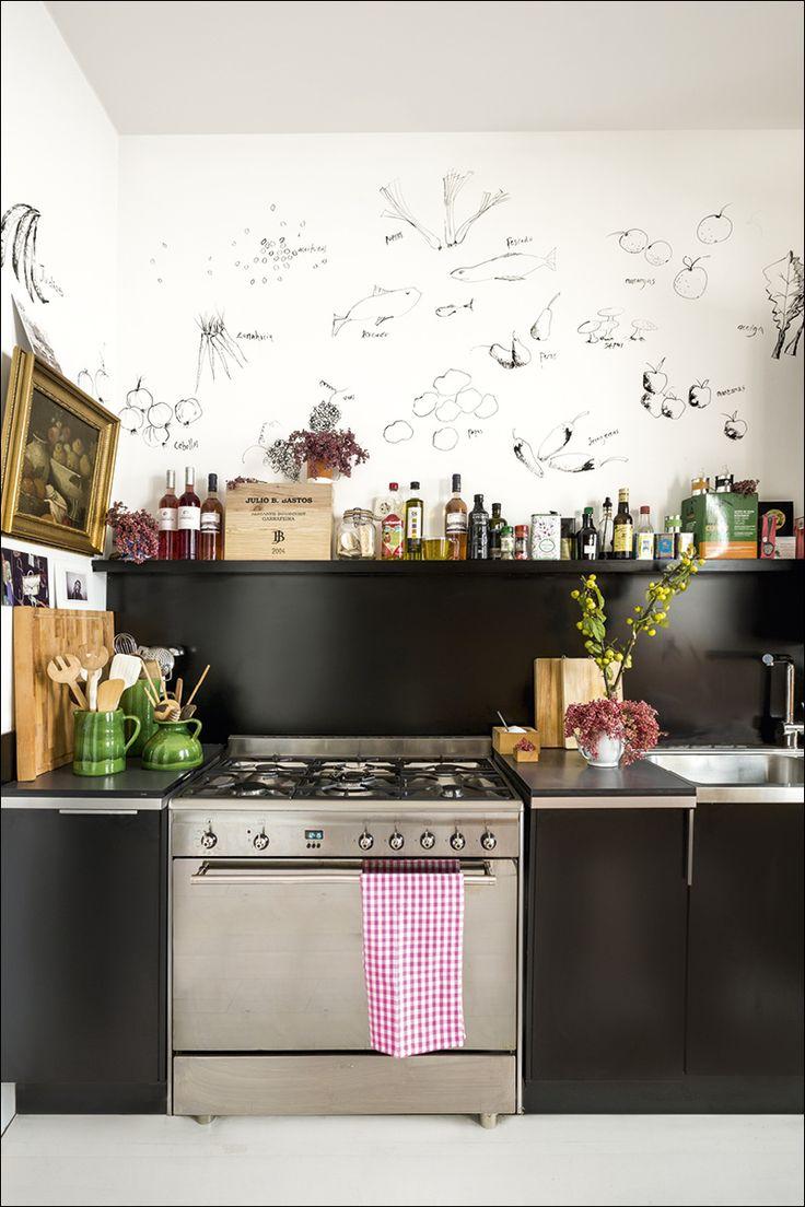 Cocinas negras que te van a enamorar decoraci n diy for Cocinas online