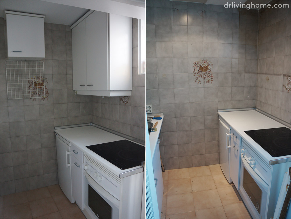 Renovar la cocina sin obras ii c mo tapar azulejos paso a - Cambiar encimera cocina sin obras ...