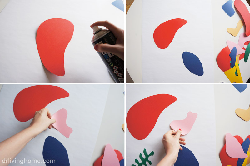 Diy decoración pared: collage Matisse