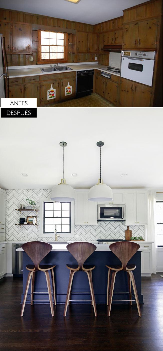 Impresionante antes y después de la decoración de esta casa