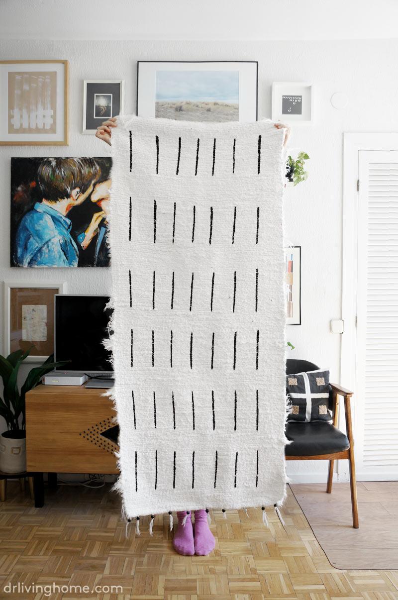 Cómo pintar una alfombra diy