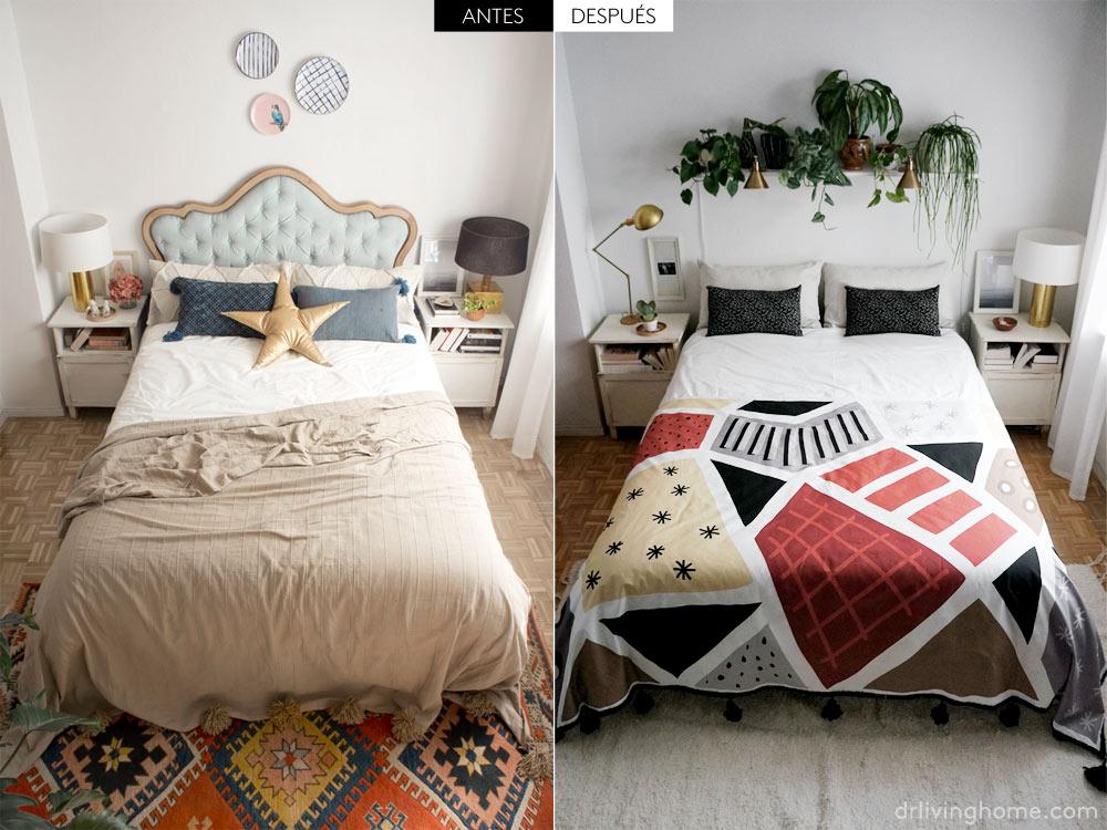 Antes y después de la decoración de mi dormitorio