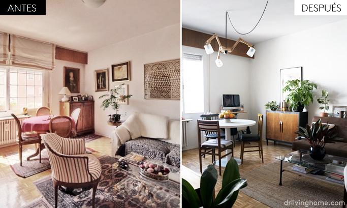 Antes y después del salón