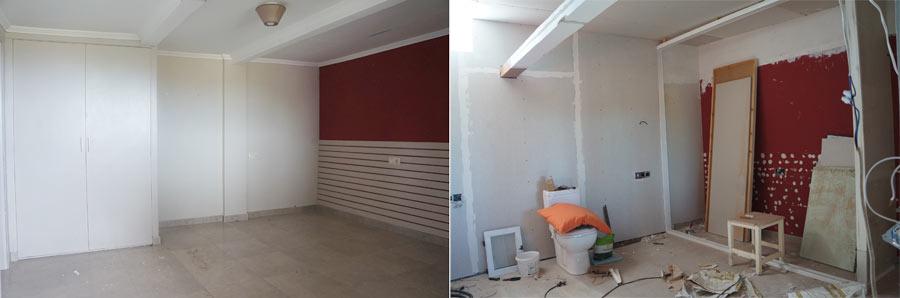 Antes y después del dormitorio