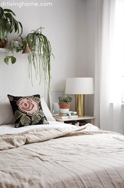 Dormitorio nórdico-boho