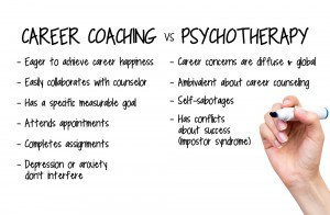 career coaching vs psychotherapy