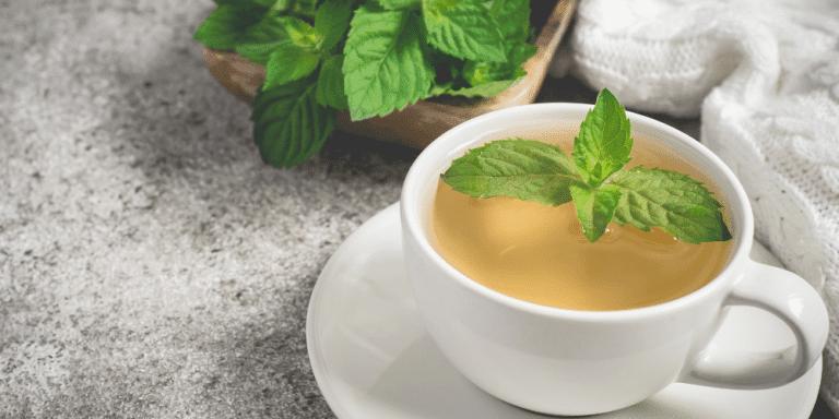 mint tea recipe with added kratom powder