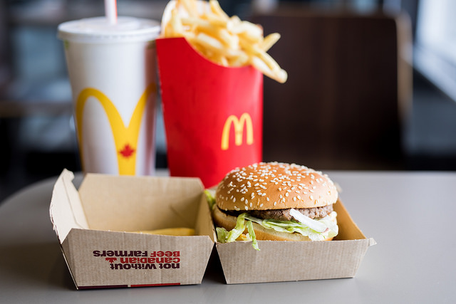 I can eat McDonald's today. I am still young.