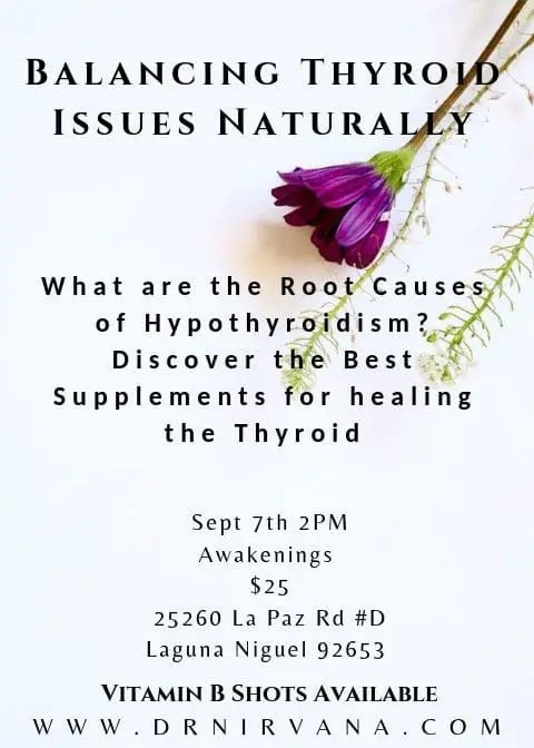 Dr. Nirvana Live Lecture on Healing the Thyroid