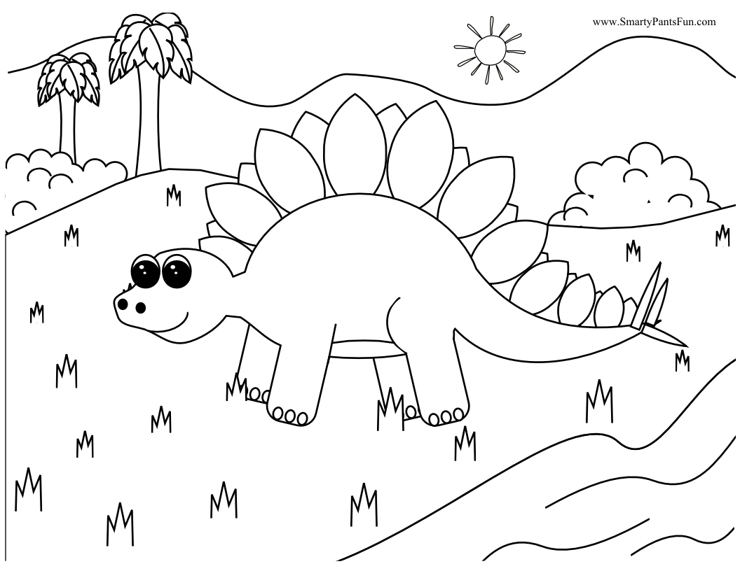 Dinosaur Coloring Pages Dr Odd