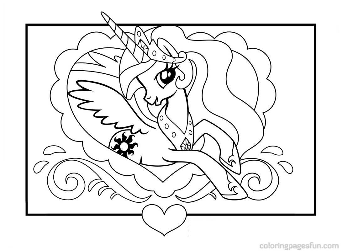 My Little Pony Coloring Page Best Cool Funny