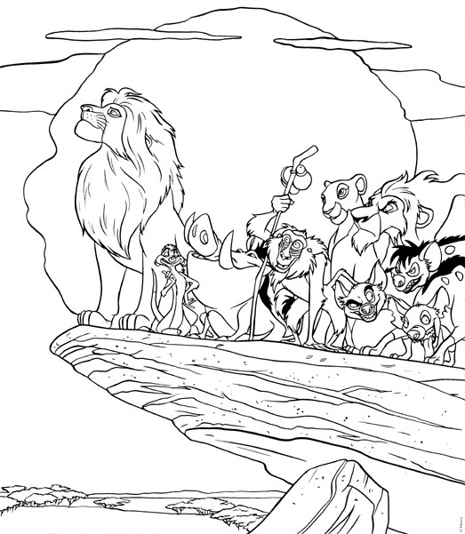 Lion King Coloring Pages 2019: Best, Cool, Funny