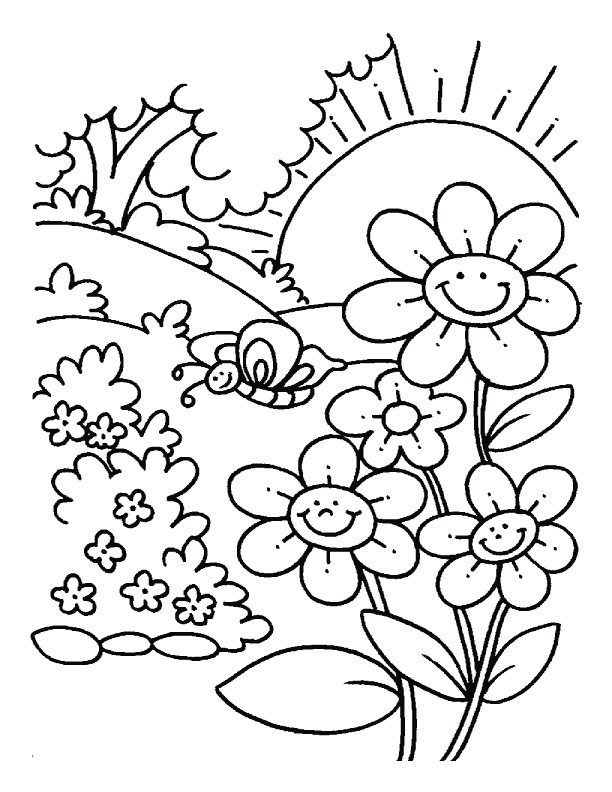 Spring Coloring Pages 2019: Best, Cool, Funny