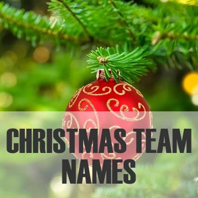 christmas team names 2019