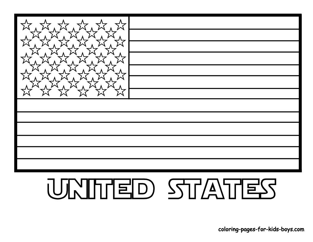 American Flag Coloring Pages Dr Odd