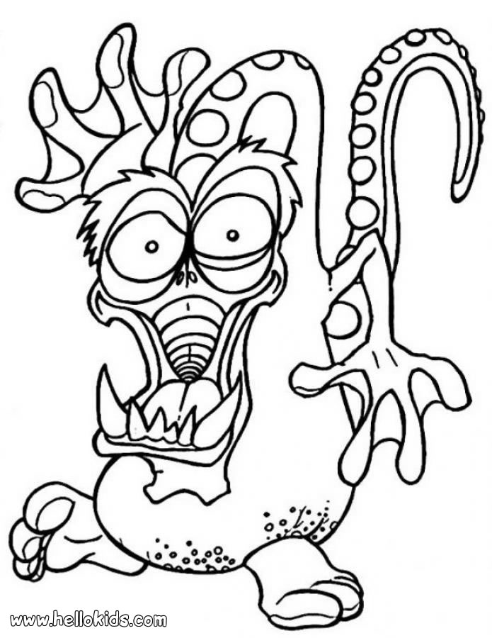 Monster Coloring Pages 2019- Dr. Odd