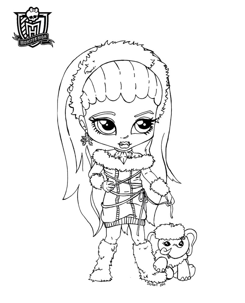 Monster High Coloring Pages 2019- Dr. Odd