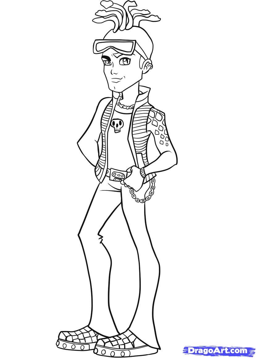 Monster High Coloring Pages 2019 Dr Odd