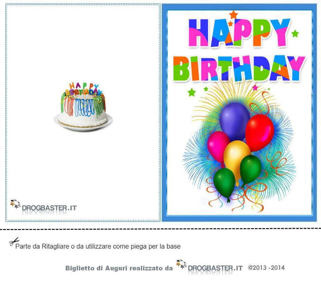 Biglietti Di Auguri Da Stampare Per Compleanno