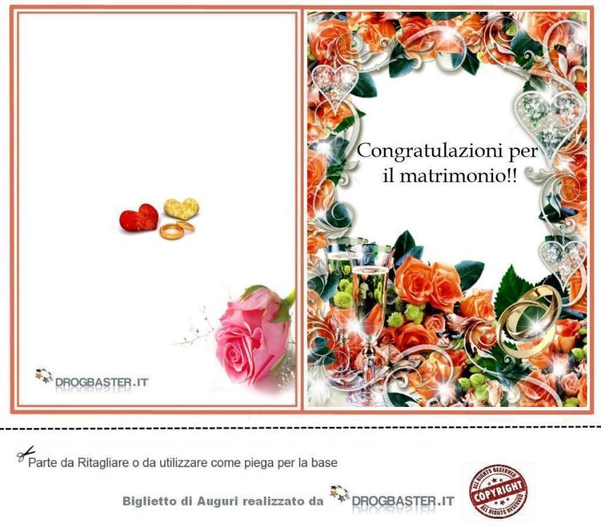 Auguri Matrimonio da stampare gratis