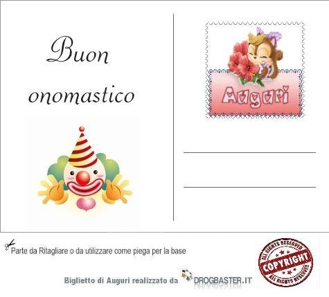 Biglietti di auguri onomastico da stampare