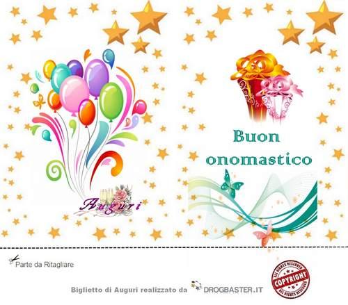 Scarica gratis biglietti auguri festa Onomastico