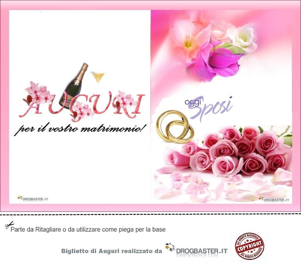 Biglietto da stampare gratis in occasione Matrimonio