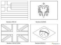 Mappa E Bandiere Delle Nazioni Da Stampare E Colorare