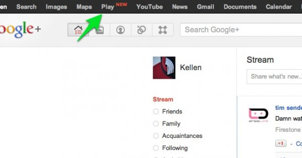 Google Play Link Added to Google Toolbar