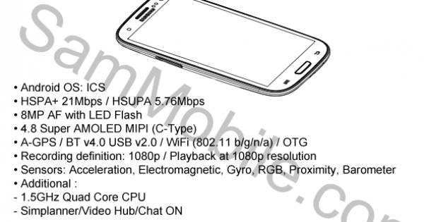 Samsung GT-i9300 User Guide Purportedly Leaked, Specs Don