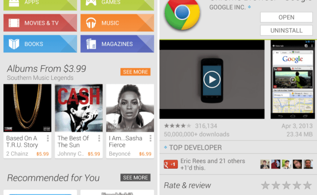 Google Play Updated To Version 4 1 6 Brings Sporty
