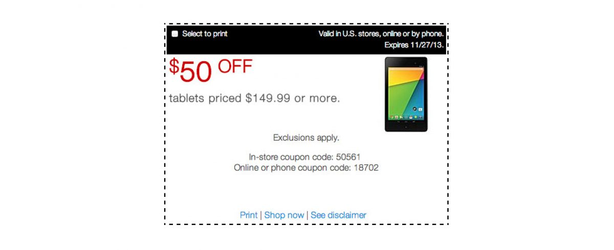 Deal: Staples Offering 1-day Only $50 Discount on Tablets