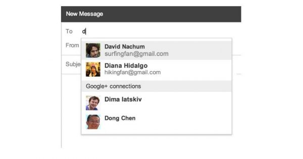Gmail for Web Integrates Google+ Contacts to Help Find