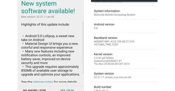 """Moto X """"Pure Edition"""" Receiving New Update to 22.21.11"""