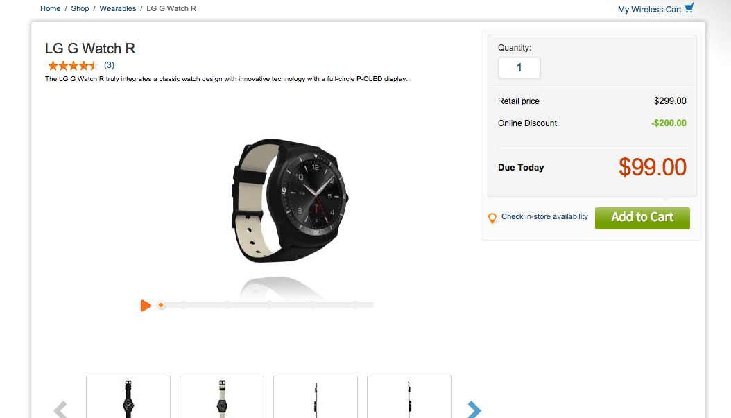Deal: Buy a LG G Watch R for Just $99 Through AT&T