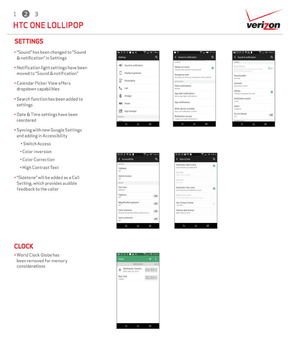 Verizon's HTC One M7 Gets Lollipop Starting Today, Full