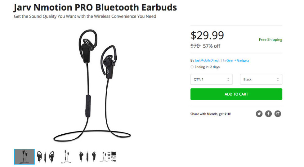 Deal: Grab These Jarv Nmotion PRO Bluetooth Earbuds for $29.99
