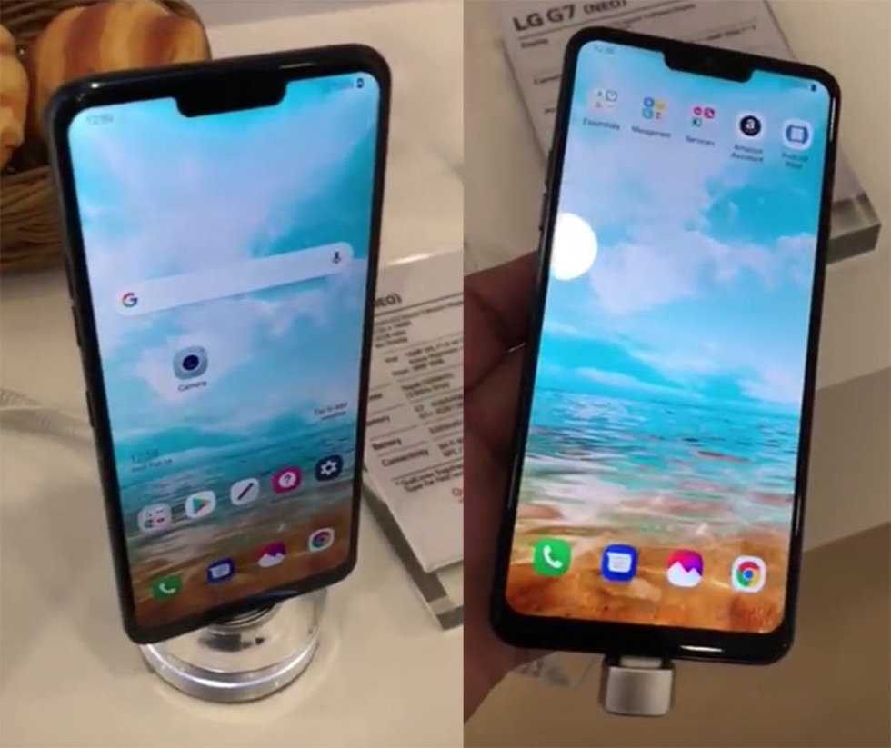 Iphone X Wallpaper Notch Lg G7 Shows Up At Mwc With The Most Beautiful Iphone X
