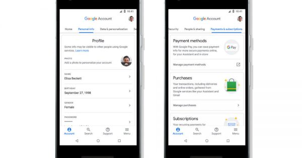 Your Google Account Page Just Got Way More Comprehensive