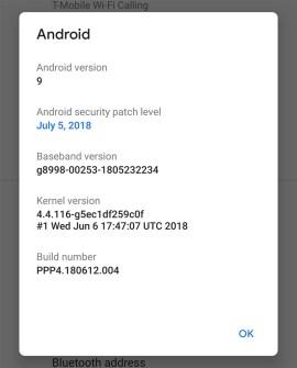 android p dp 4 info perangkat lunak