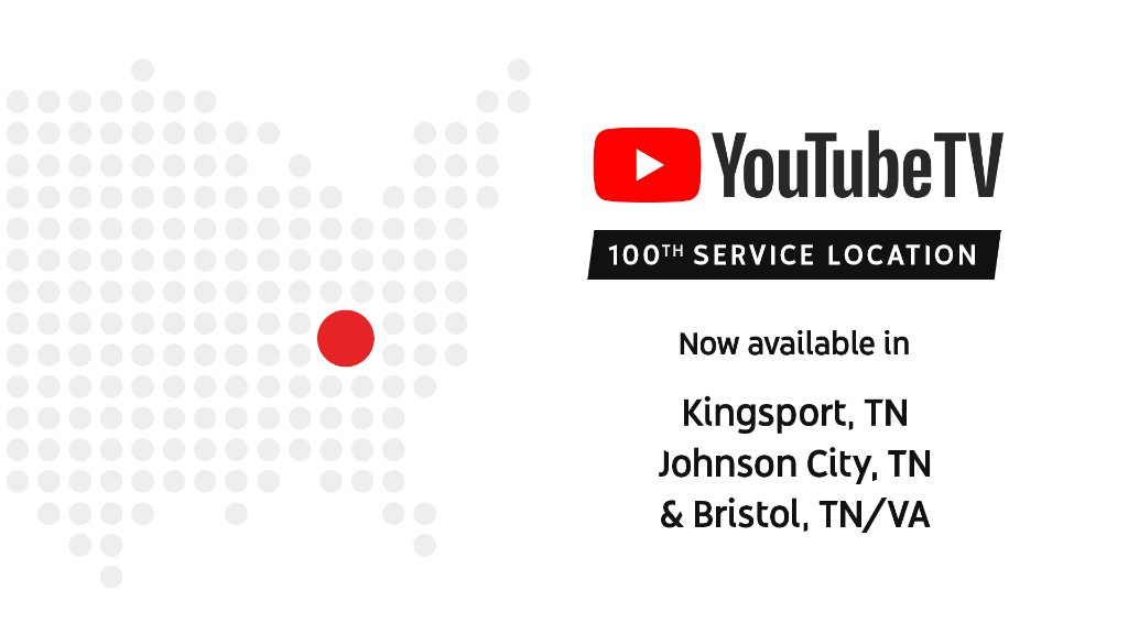YouTube TV Adds 100th Service Area