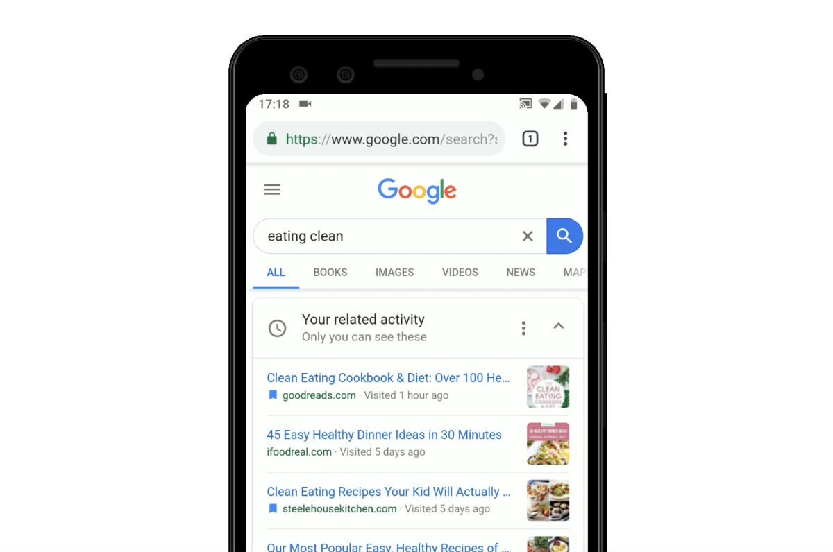 Google Search Gets Activity Cards to Pick Up Where You