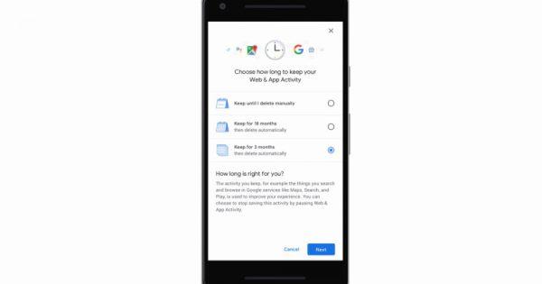 Google Auto-Delete Feature for Location History, Activity