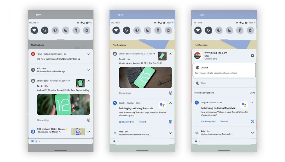 Android 12 Notifications