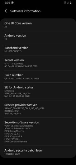 One UI 2.5 update released for Samsung Galaxy M21 1