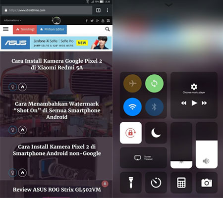 Install Control Center di Android