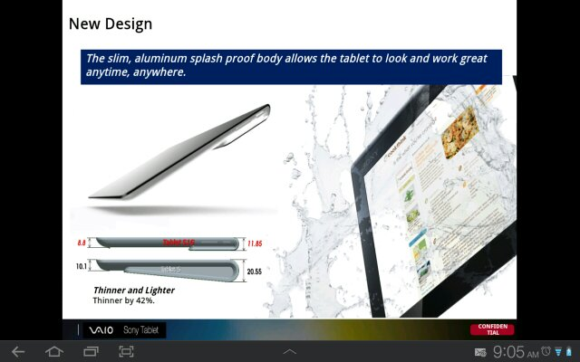 Details on Sony's upcoming tablet leaks; take a look at the Xperia Tablet