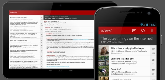 Reddit fan? Check out RedReader, an ads-free, Open Source and free Android app