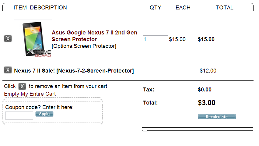 Deal: XtremeGuard is offering 80% off the new Nexus 7 screen (2013) and body protectors, as low as $3 shipped